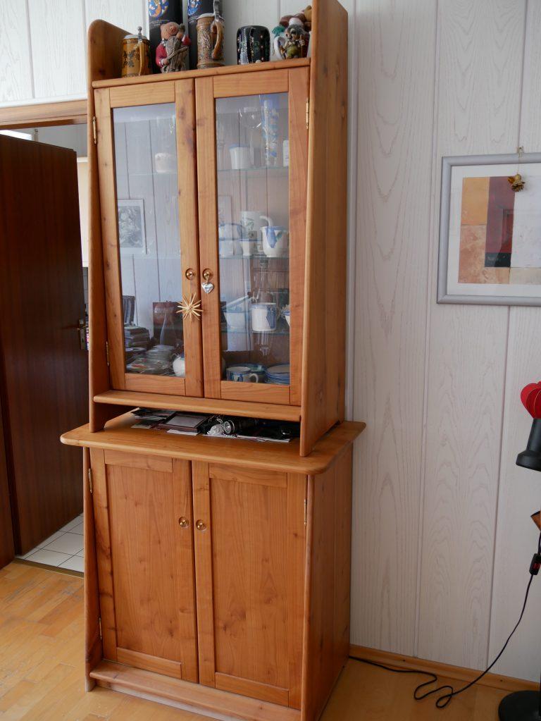 Wohnzimmerschrank mit 2 Glastüren , 2-teilig Bild 2
